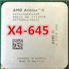 AMD Athlon II X4 645 ADX645WFK42GM 3.1GHz 4-core Socket AM3 95W CPU Processor