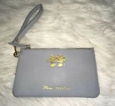NWOT Disney Pandora Mickey Minnie Mouse Baby Blue Vegan Leather Clutch Bag