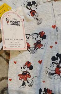 Pottery Barn Kids Disney Mickey Mouse One Piece Pajama Sz: 3-6 M