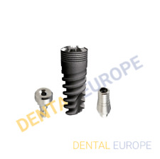 Spiral Dental Implant + Standard Abutment + Healing Cap with FDA/ISO/CE Approved