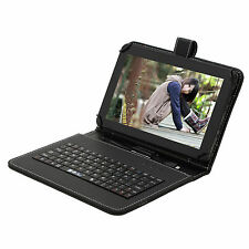 "9"" Wide Leather Case Cover USB Keyboard for iRULU 9 inch Tablet PC"