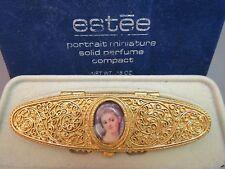 Estee Lauder Solid Perfume Portrait Miniature Victorian Cameo Filigree '73 Glace