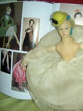"Extremely Rare, 1924 antique LENCI miniature BOUDOIR doll, ""Colombina"" (RP) XLNT"