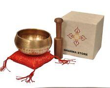 Hand Hammered  Tibetan Meditation Yoga Singing Bowl Set with Gift box