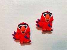 Red Parrot Shoe Charm Set