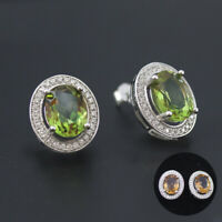 Classic color change diaspore 925 sterling silver sultanit studs earrings women