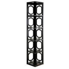 Convenience Concepts Omega 5 Tier Corner Bookcase, Black, Black - 203280BL