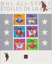 CANADA MNH STAMP SHEET FOLDER 2003 NATIONAL HOCKEY LEAGUE 4TH SET SG 2178-2183