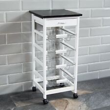 Home Discount 4 Tier Kitchen Trolley - White