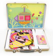 111pc Magnetic Fun Under Sea/ Ocean Tangram Shapes -Tin Suitcase -Build Creative
