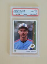 1989 Upper Deck RANDY JOHNSON # 25 RC Star Rookie HOF PSA 8