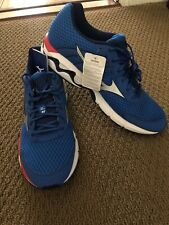 MIZUNO WAVE INSPIRE 11 Running Training Shoes Mens Blue/White/Red SIZE 15