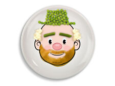 NEW Mr Food Face Childrens Dinner Plate Fun Child Kids Fred