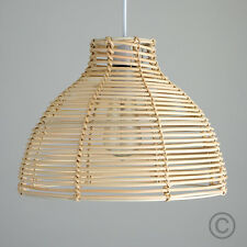 Contemporary Cream Wicker Basket Ceiling Pendant Light Shade Rattan Lampshade