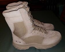 New Oakley SI Assault Reg Toe Military 8 inch Desert Size Men US 10.5 Wide Boots