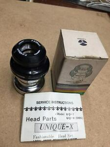 "Nos TANGE UQ-8 UNIQUE-X 1"" inch Old School BMX Threaded Headset Looseproof"