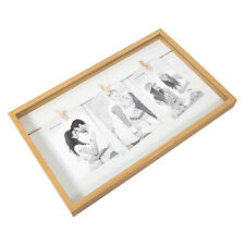 Wall Mounted White Wooden Edge 3 Photo Collage Peg Picture Frame 4x6 Photographs