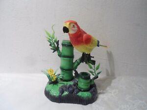 Spielzeug: Sprechender Papagei mit Aufnahme und Wiedergabe, Kunststoff