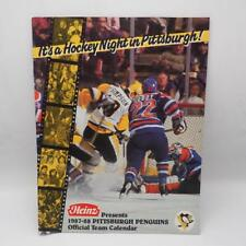 Vtg Pittsburgh Penguins Heinz NHL Hockey Official Team Calendar 1987-88 Lemieux