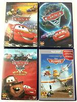 Lot de 4 DVD Disney VF  Cars 1 et 2  Toon Martin  Planes  Envoi rapide et suivi
