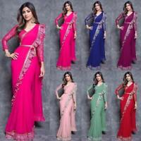 Fancy Indian Kanjivaram Silk Sari Pakistani Wear Wedding Ruffle Saree Blouse_Sc