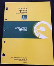 Genuine John Deere 7210 7410 7510 Tractor Operators Manual Ser. #50,001 & Up