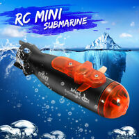 Mini RC Submarine IR Remote Control & Auto Under Water Ship Boat +Light Kids Toy