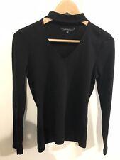 PORTMANS black merino wool ls top S-as new