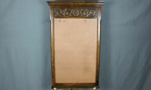 Carved Oak mirror frame (only) by Ethan Allen Made in England Royal Charter ?
