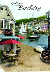 Open Male Birthday Card ~ Summer Sailing  By Simon Elvin ~ Free P&P