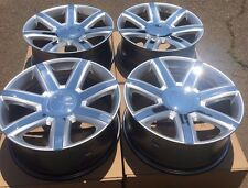 "SET FOUR 22"" SILVER CHROME WHEELS RIMS FITS CADILLAC ESCALADE EXT ESV NEW"