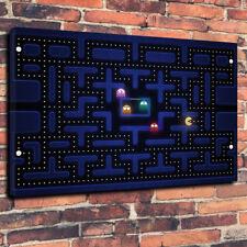 """Contemporanea Moderno Pacman Scatola stampata foto su tela A1.30""""x20""""30mm videogioco"""