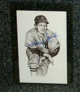 """WHITEY FORD NEW YORK YANKEES SIGNED 1989 TED WILLIAMS """"THE KID"""" POSTCARD"""