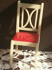Vintage Ideal Plastic Toy Dollhouse Playset 1/16 Stuffed Kitchen Chair I-895 a!
