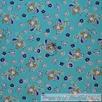Light Blue Pink White Green /& Black Sheep on Dark Gold By The Yard CANFAR07385