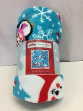 Plush Throw Blanket Penguins and Bears Design Great Gift For Christmas, New UP-F