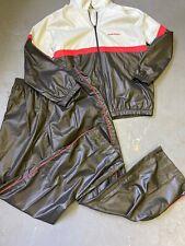 Vintage HP Sundara Track Suit Jacket Pants Windbreaker Set Large Gray 70s 80s