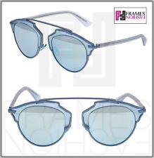9b21cff91bc5 CHRISTIAN DIOR SO REAL Matte Silver Grey Metal Mirrored Sunglasses  DIORSOREAL