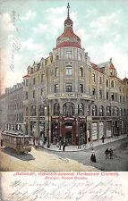 """Chemnitz, """"Automat"""", elektr. Restaurant, Hotel, Straßenbahn, Postkarte 1906"""