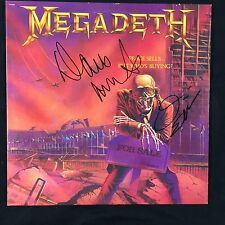 Megadeth Peace Sells But Who Is Buying Signed Autograph Record Album JSA Vinyl