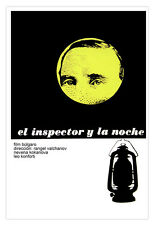 Cuban movie Poster for film The INSPECTOR and Night.Security Home Wall Decor Art