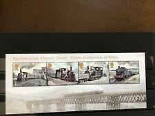 Gb 2014 Trains Of Wales Miniature Sheet Sg3578 Mnh Fv £3.70