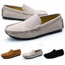 Mens Driving Loafers Dress Casual Slip On Flat Moccasins Suede Boat Shoes L