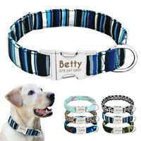 Personalized Dog Collar Heavy Duty Buckle Engraved ID Name Custom Labrador S/M/L