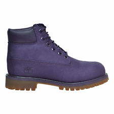 NEW TIMBERLAND TB0A14UC 6 INCH PREM WATERPROOF PURPLE  KID BOOTS Sz 1