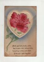 Antique Post Card -  .........kindly smiles  Help to ease life's tedious miles