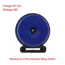 Blue 6V-12V 2 Pin Indicator LED Flasher Relay Motorcycle Turn Signal LED Blinker