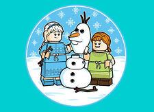 """Mens/Unisex T-Shirt - LEGO """"Build A Snowman?"""" Frozen US Mens XXL - Turquoise"""