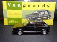 Wow extremadamente raro 1/43 Vanguards VW Golf GTI Negro nla