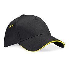 Sandwich Peak Baseball Cap Cotton Sun Summer Contrast Hat Quality Ladies Mens